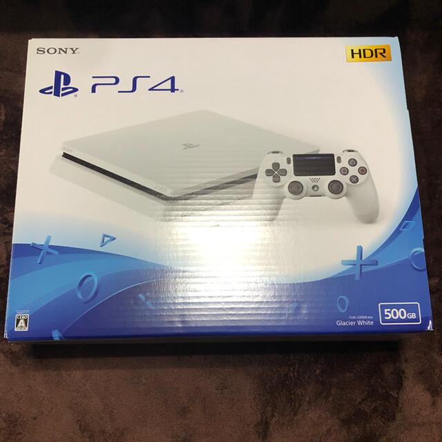 PlayStation4(プレイステーション4)のPS4 プレステ4本体 CUH-2200 500GB グレイシャーホワイト エンタメ/ホビーのゲームソフト/ゲーム機本体(家庭用ゲーム機本体)の商品写真