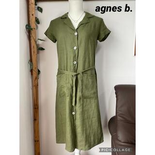agnes b. - アニエスベー リネンワンピース シャツワンピース