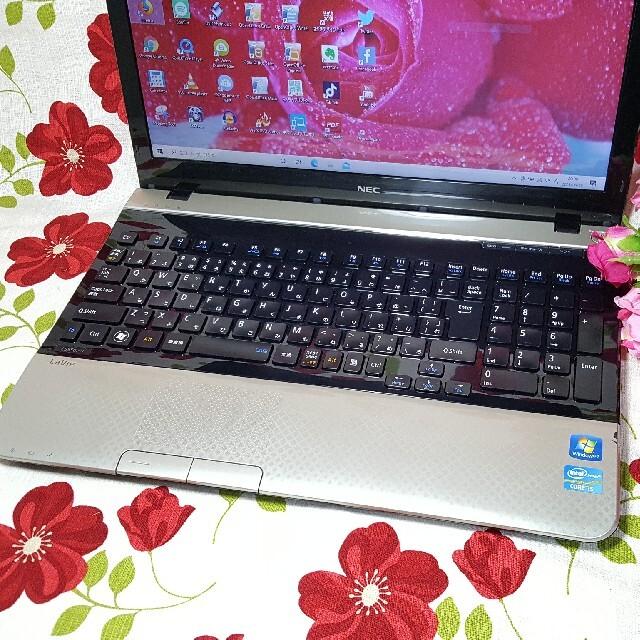NEC(エヌイーシー)のWin10/3世代CORE‐i5★メモリ8G/HDD640G/ブルーレイ&カメラ スマホ/家電/カメラのPC/タブレット(ノートPC)の商品写真