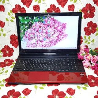 富士通 - 赤色LIFEBOOK★Blu-ray★大容量500G/Webカメラ/USB3.0