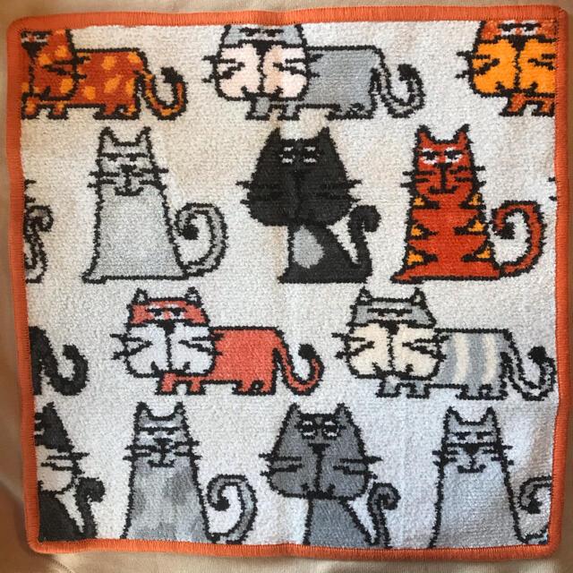 FEILER(フェイラー)の【新品未使用】FEILER フェイラー 大判 タオルハンカチ 猫  キャッツ レディースのファッション小物(ハンカチ)の商品写真