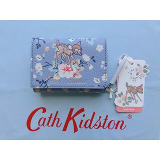 Cath Kidston - 【新品未使用】ディズニー スモールコンパクトウォレット レザー ミニバンビローズ