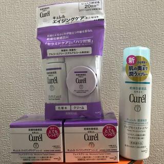 Curel - キュレル エイジングケアフェイスクリーム(2個)&トライアル&ディープスプレー