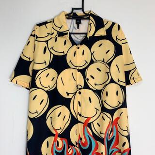 スマイル ファイヤーパターン アロハシャツ 半袖シャツ スマイリー