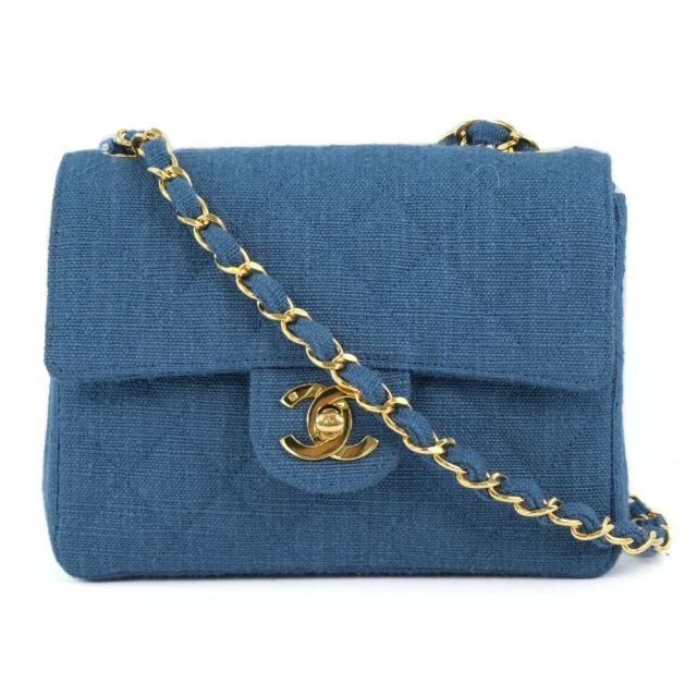 CHANEL(シャネル)のシャネル 希少 チェーンショルダー ミニマトラッセ    デニム レディースのバッグ(ショルダーバッグ)の商品写真