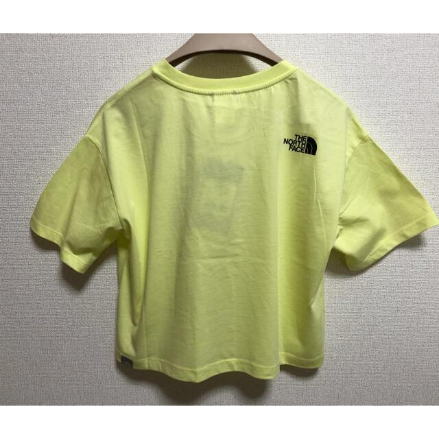 THE NORTH FACE(ザノースフェイス)のノースフェイス★シンプルドームクロップドTシャツ★イエロー♪ レディースのトップス(Tシャツ(半袖/袖なし))の商品写真