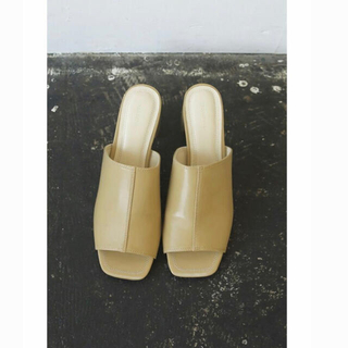 TODAYFUL - todayful Square Open Sandals  ベージュ 37