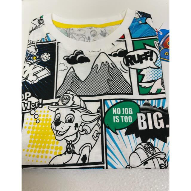 新品 パウパトロール パウパト 半袖 Tシャツ 漫画白 110cm キッズ/ベビー/マタニティのキッズ服男の子用(90cm~)(Tシャツ/カットソー)の商品写真