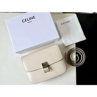 セリーヌ(celine)のceline / クラシック Medium Light-Grey。(ショルダーバッグ)