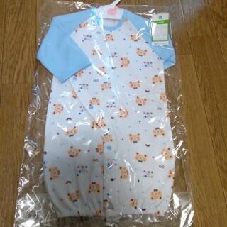 ニシマツヤ(西松屋)の年中素材 長袖コンビドレス 50-60サイズ(カバーオール)