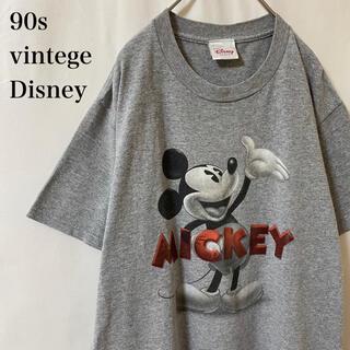 Disney - ★90s vintege Disney モノクロ ミッキー グレー ディズニー