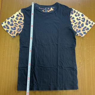 フォーエバートゥエンティーワン(FOREVER 21)のフォーエバー21 レオパード袖カットソー サイズM(Tシャツ/カットソー(半袖/袖なし))