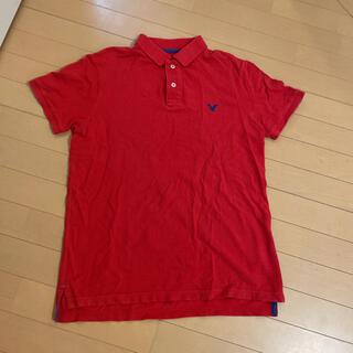 アメリカンイーグル(American Eagle)のアメリカンイーグル ポロシャツ レッド 赤(ポロシャツ)