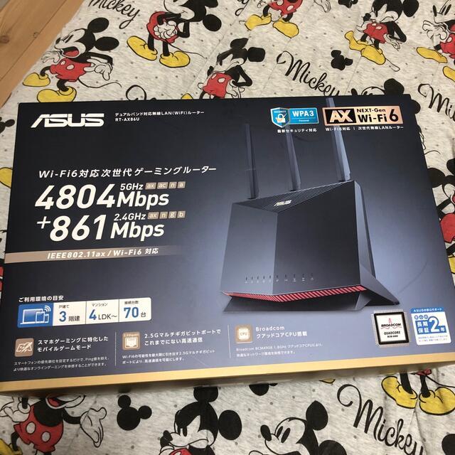 ASUS(エイスース)のasus ゲーミングルーターRT-AX86U スマホ/家電/カメラのPC/タブレット(PC周辺機器)の商品写真
