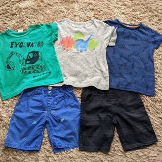 ムージョンジョン(mou jon jon)のまとめ売り 男の子 95cm  夏服 キッズ 5点(Tシャツ/カットソー)