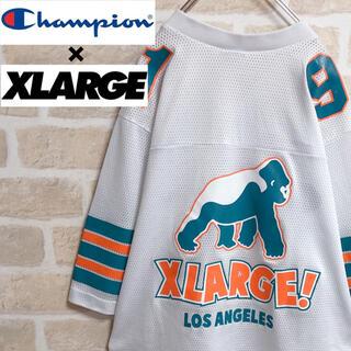 XLARGE - エクストララージ チャンピオン コラボTシャツ ゲームシャツ 希少 人気 白 M
