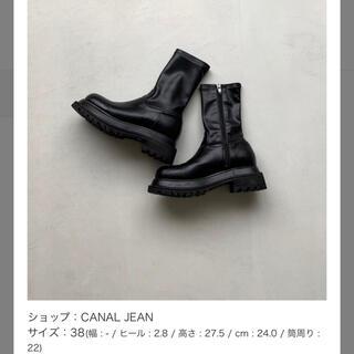 TODAYFUL - CANAL JEAN via j エコレザーミドル丈ブーツ