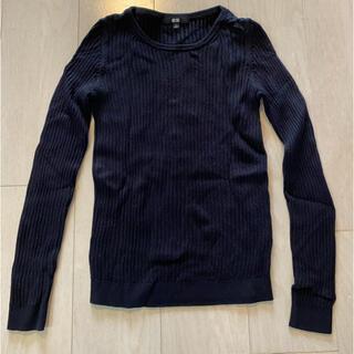 ユニクロ(UNIQLO)のUNIQLO 黒 長袖トップス(Tシャツ(長袖/七分))