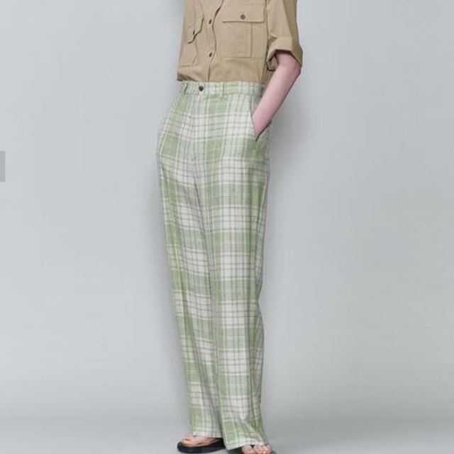 BEAUTY&YOUTH UNITED ARROWS(ビューティアンドユースユナイテッドアローズ)の6 roku nep check pants 34size レディースのパンツ(カジュアルパンツ)の商品写真