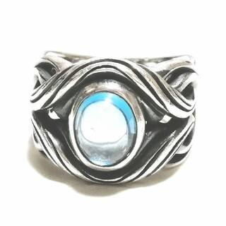 エムズコレクション(M's collection)のエムズコレクション ブルートパーズ スパイラル シルバー925 シルバーリング(リング(指輪))