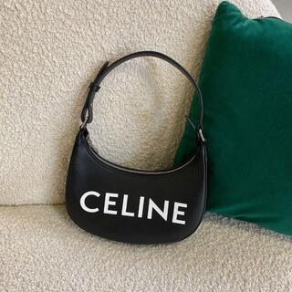 セリーヌ(celine)のAVA(アヴァ)バッグ / CELINEプリント スムースカーフスキン ブラック(ショルダーバッグ)