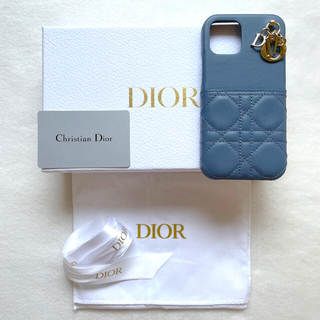 クリスチャンディオール(Christian Dior)の新品 LADY DIOR IPHONE 12 & 12PROケース デニムブルー(iPhoneケース)