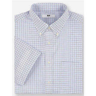 ユニクロ(UNIQLO)のUNIQLO 5L ドライイージーケアチェックシャツ(ボタンダウンカラー・半袖)(シャツ)