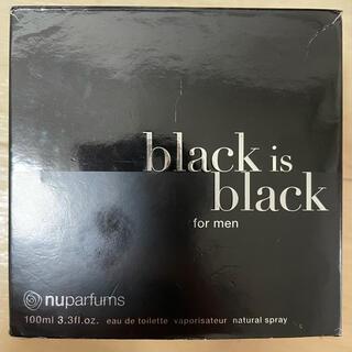香水 【nuparfums】 black is black 100ml(香水(男性用))