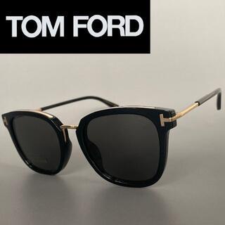 トムフォード(TOM FORD)のトムフォード 偏光 サングラス シャイニー ブラック ゴールド スモーク 黒(サングラス/メガネ)