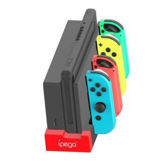 【最新型】Switch Joy-Con4台同時充電スタンド/有線可/指示LED(その他)