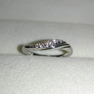 STAR JEWELRY - スタージュエリー K10 WG ダイヤモンド リング ダイヤ 0.06ct 指輪
