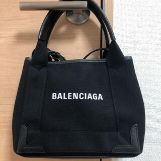 Balenciaga - 美品 BALENCIAGA ネイビーカバス バレンシアガ ハンドバッグ