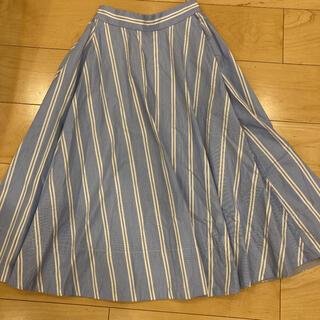グリーンレーベルリラクシング(green label relaxing)のフレアロングスカート サイズ36 Sporting & Style(ロングスカート)