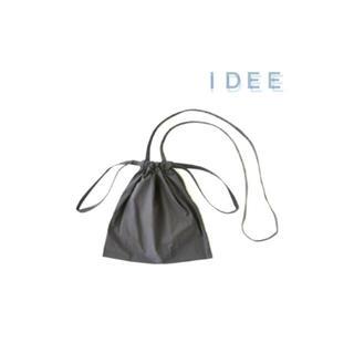 イデー(IDEE)のIDEE   ドローストリング ショルダー付巾着バッグ グレー(ショルダーバッグ)