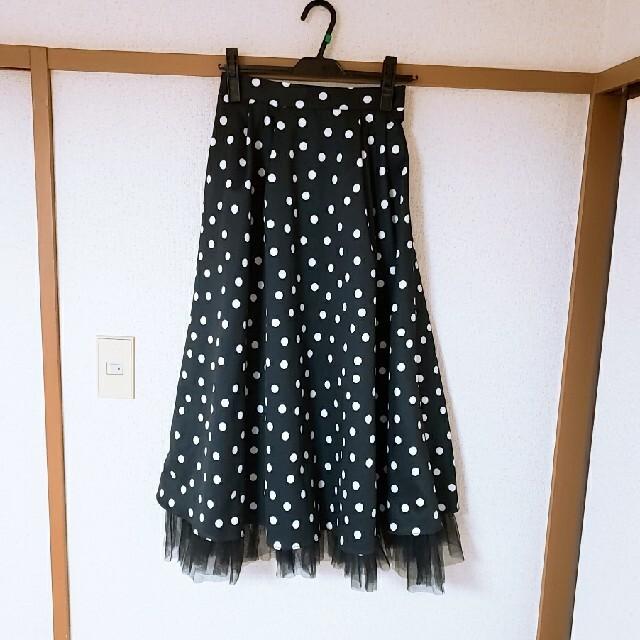 eimy istoire(エイミーイストワール)のエイミー。レトロドットレイヤードチュールスカート レディースのスカート(ロングスカート)の商品写真