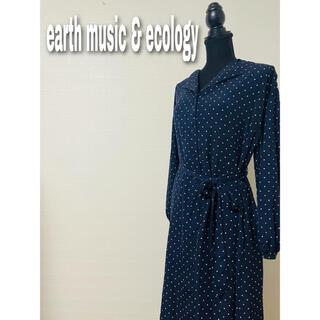 アースミュージックアンドエコロジー(earth music & ecology)のearth music&ecology ドット ワンピース(ロングワンピース/マキシワンピース)