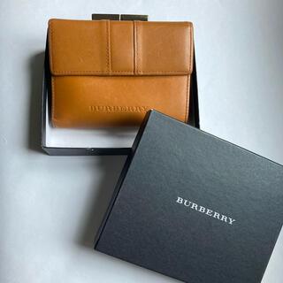 バーバリー(BURBERRY)のバーバリー がま口 折りたたみ財布 キャメル(財布)
