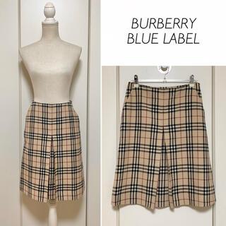 バーバリーブルーレーベル(BURBERRY BLUE LABEL)の【美品】BURBERRY BLUE LABEL 前プリーツノバチェックスカート(ひざ丈スカート)