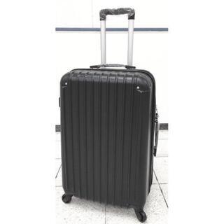 小型軽量スーツケース キャリーバッグ TSAロック付き 機内持込Sサイズ 黒(旅行用品)