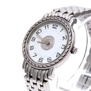 Hermes - 【HERMES】エルメス 時計 'セリエ' 新型バックル ホワイト ☆極美品☆