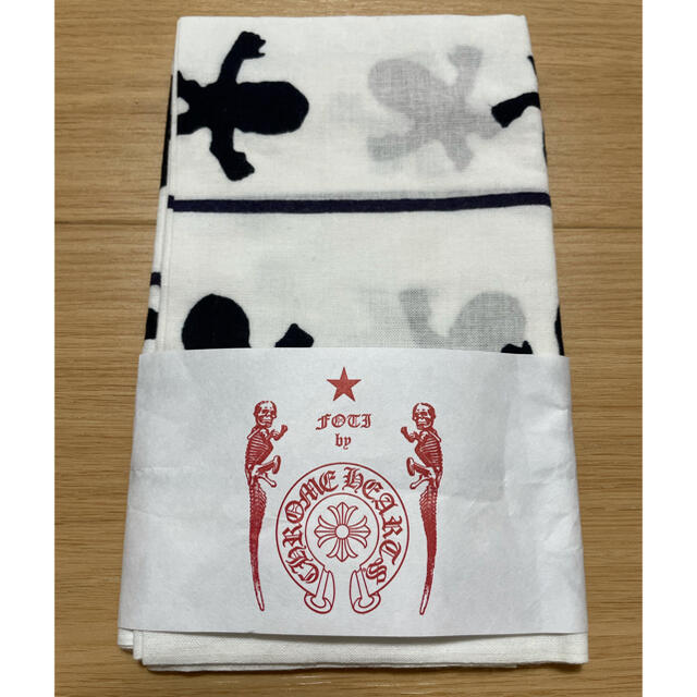 Chrome Hearts(クロムハーツ)の【新品未使用】クロムハーツ 手拭い 日本製 レディースのファッション小物(ハンカチ)の商品写真