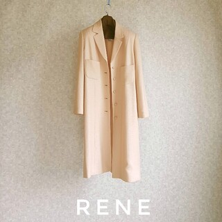 René - 超高級 Rene 一級品チェスターコート シンプルスタイル ルネ 送料無料