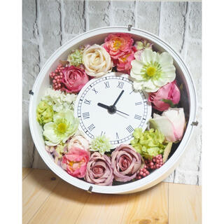 花時計 結婚祝い 記念日 プレゼント ピンク グリーン ホワイト