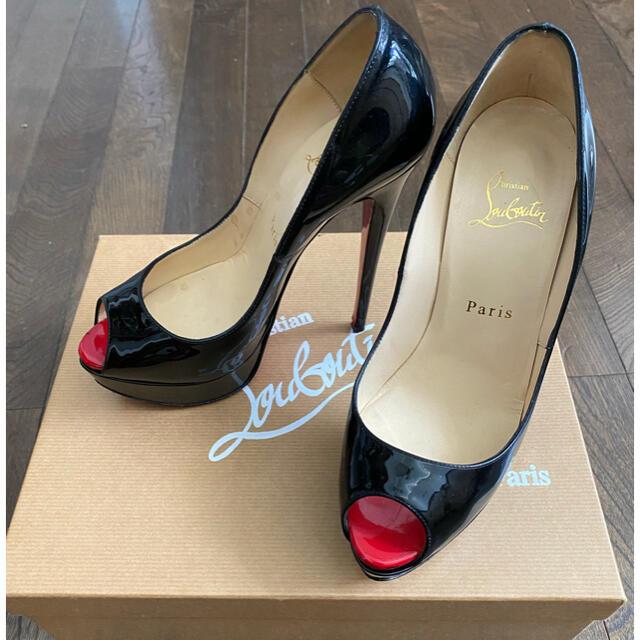 Christian Louboutin(クリスチャンルブタン)のクリスチャンルブタン  lady peep 37 ブラック 黒 パンプス レディースの靴/シューズ(ハイヒール/パンプス)の商品写真