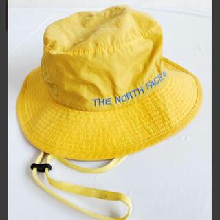 ザノースフェイス(THE NORTH FACE)のノースフェイス ハット 帽子 ナイロン 黄色 キッズ(帽子)