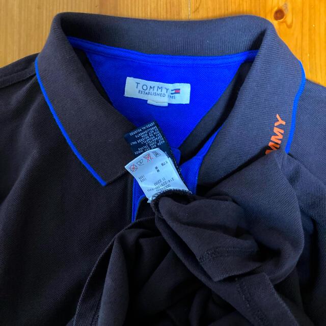TOMMY HILFIGER(トミーヒルフィガー)の美品です!トミーヒルフィガー 襟ロゴ入り 鹿の子コットン ポロシャツ 濃茶色 メンズのトップス(ポロシャツ)の商品写真