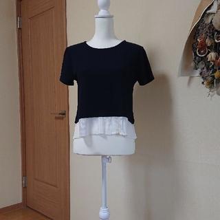 ロペピクニック(Rope' Picnic)のロペピクニック 半袖カットソー 濃紺&白(カットソー(半袖/袖なし))