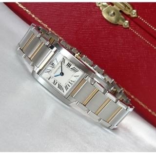 Cartier - ☆美品☆ OH済 カルティエ タンクフランセーズ K18コンビ SM / 腕時計