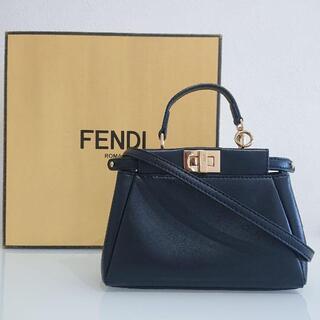 フェンディ(FENDI)のFENDI/マイクロミニバッグ ピーカブー(ブラック)(ハンドバッグ)