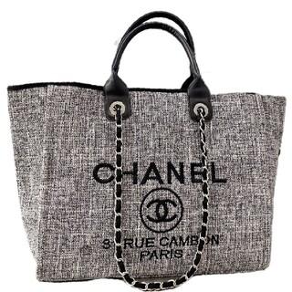 シャネル(CHANEL)のChanelグレービーチバッグキャンバスバッグ#C 1(トイレ収納)